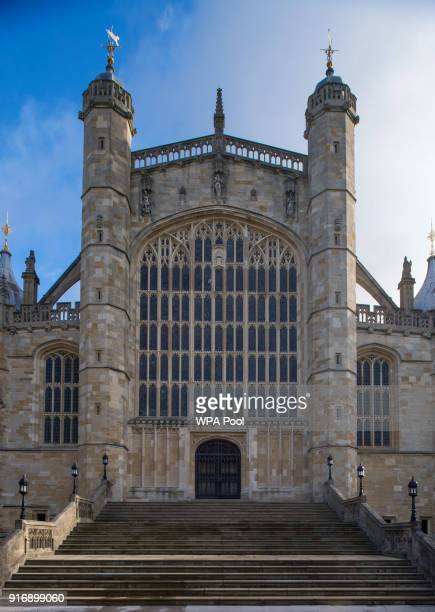 View of St George's Chapel at Windsor Castle, where Prince Harry and Meghan Markle will have their wedding service, February 11, 2018 in Windsor,...