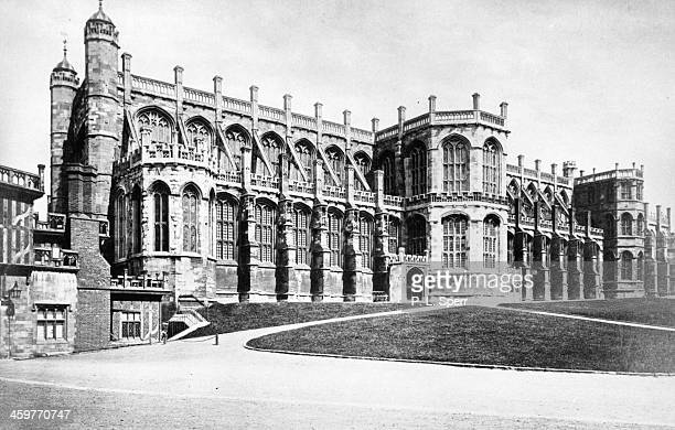 View of St George's Chapel in the Windsor Castle in London, England. Circa 1900.
