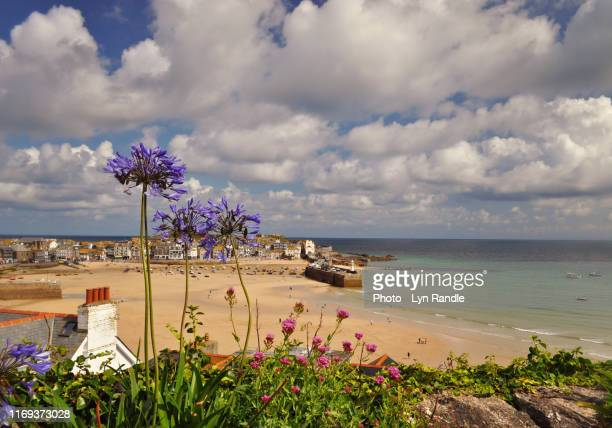 view of st ives cornwall - st. ives cornwall stock pictures, royalty-free photos & images