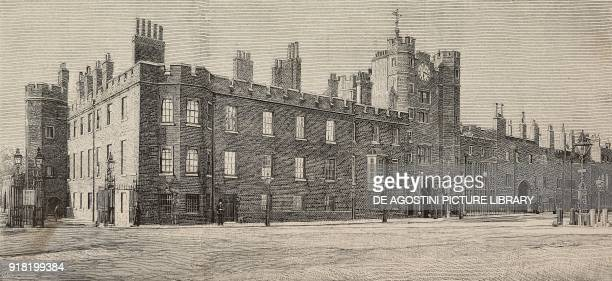 View of St James's Palace London England engraving from L'Illustrazione Italiana Year XX No 29 July 16 1893