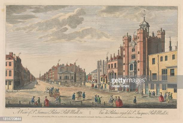 View of St. James's Palace Pall Mall, Thomas Bowles, ca. 1712–died 1753, British, after Thomas Bowles, ca. 1712–died 1753, British Hand colored...
