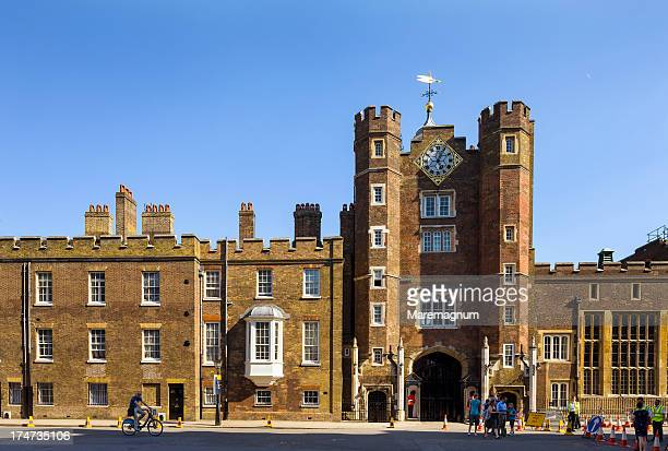 view of st james's palace - st. james's palace london stock pictures, royalty-free photos & images