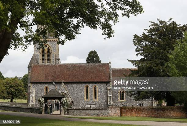 A view of St Mark's Church ahead of the wedding of Pippa Middleton and James Matthews at St Mark's Church in Englefield west of London on May 20 2017...