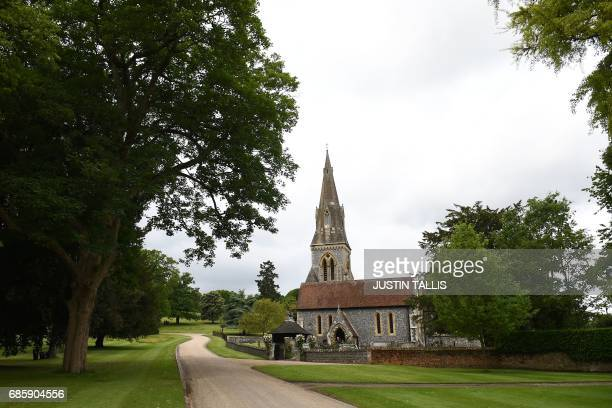 View of St Mark's Church, seen after of the wedding of Pippa Middleton and James Matthews in Englefield, west of London, on May 20, 2017. After...