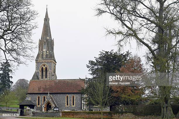 View of St Marks Church where the Middleton Family attend a Christmas Day service on December 25 2016 in Englefield England