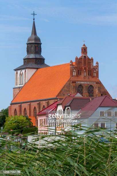 View of St Nicholas church, Wolin, Poland.