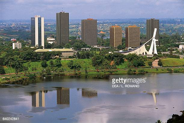View of St Paul's Cathedral and the Cite' Administrative buildings Abidjan Ivory Coast
