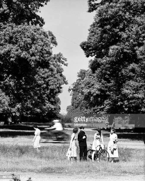 View of St Paul's Cathedral from King Henry's Mound, Richmond Park, Richmond, Greater London, 2nd July 1952.