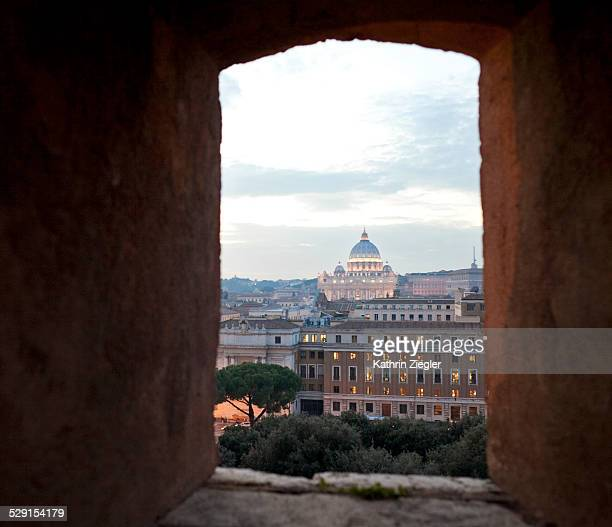 view of St. Peter's Basilica, Rome, Italy