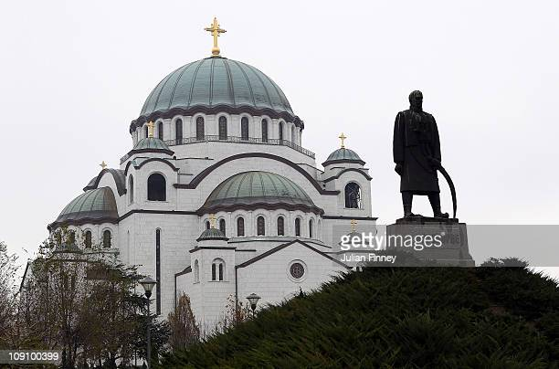 A view of St Sava Cathedral on December 4 2010 in Belgrade Serbia