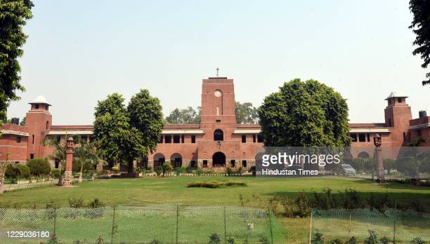View of St. Stephen's College after Delhi University's First Cut Off List 2020 released, at North Campus, Delhi University on October 12, 2020 in New...