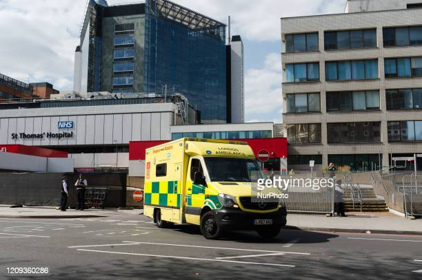 View of St Thomas' Hospital in central London on 07 April, 2020 in London, England, where British Prime Minister Boris Johnson has been taken into...