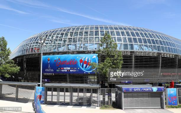 A view of Stade des Alpes before the start of the FIFA Women's World Cup on June 08 2019 in Grenoble France