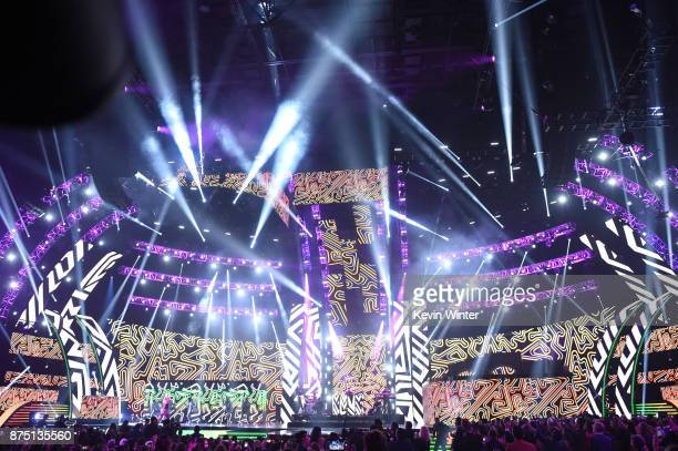 View of stage atmosphere at the 18th Annual Latin Grammy Awards at MGM Grand Garden Arena on November 16 2017 in Las Vegas Nevada
