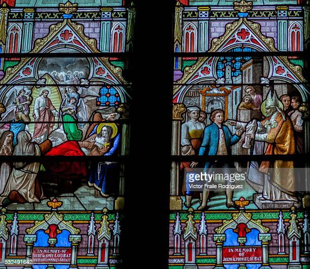 View of stainedglass window in St Patrick's Cathedral on June 15 2012 in New York United States of America Photo by Victor Fraile