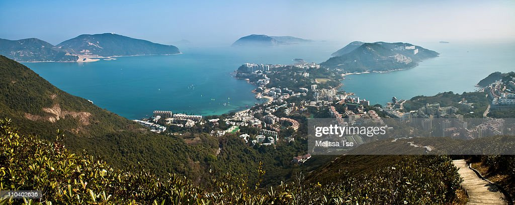 View of Stanley from Wilson Trail in Hong Kong : Stock Photo