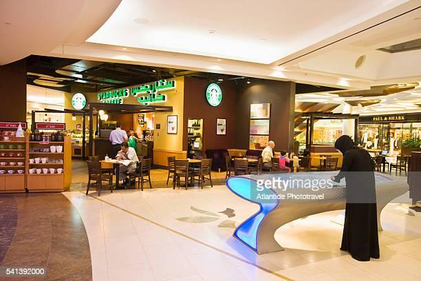 View of Starbucks Cafe in Bur Juman Center Shopping Mall