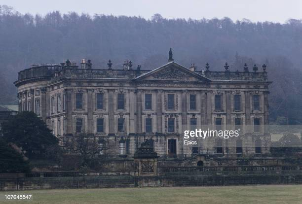 A view of stately home Chatsworth House Chatsworth Derbyshire circa 1969 The home is the seat of the Duke of Devonshire