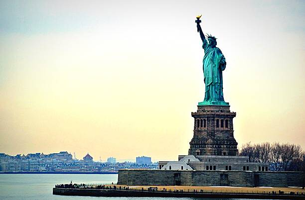 View Of Statue Of Liberty Wall Art