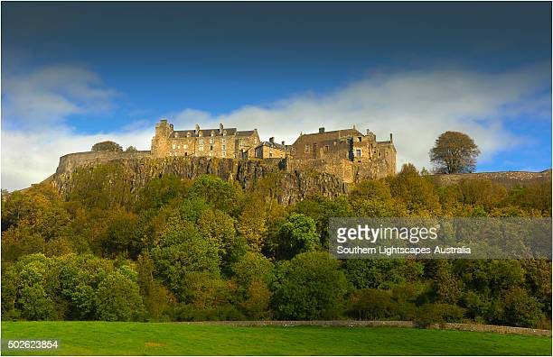 a view of stirling castle, scotland. - stirling stock pictures, royalty-free photos & images