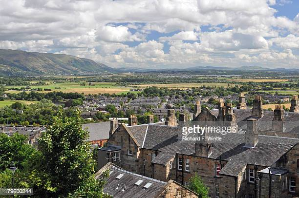 view of stirling, scotland - stirling stock pictures, royalty-free photos & images