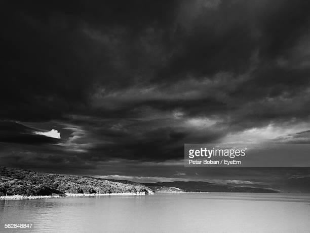 view of storm clouds over sea - boban stock pictures, royalty-free photos & images
