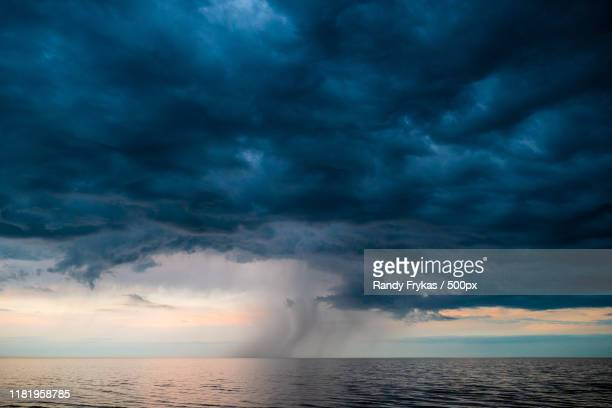 view of storm on sea - extreme weather stock pictures, royalty-free photos & images