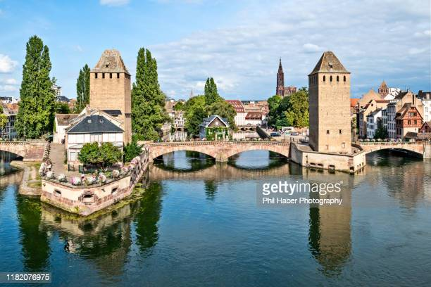 view of strasbourg from the barrage vauban - phil haber stock pictures, royalty-free photos & images