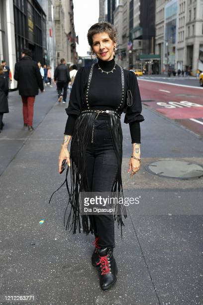 View of street style on March 13, 2020 in New York City.