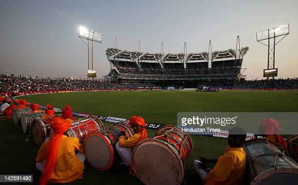 A view of Subrata Roy Sahara Stadium also known as MCA Pune International Cricket Centre is a cricket stadium on April 8 2012 in Pune India The newly...