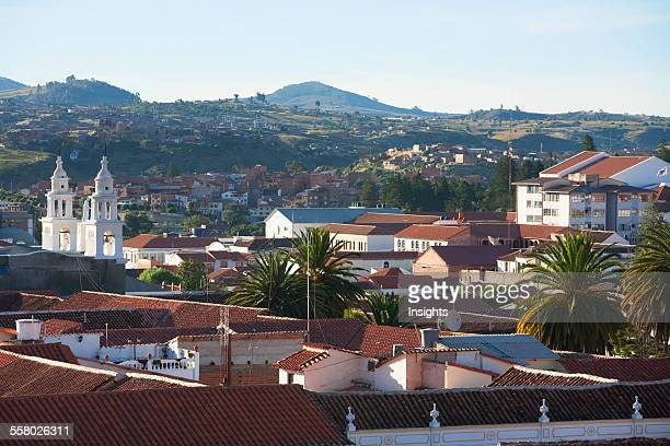 View of Sucre from the roofs of the San Felipe Neri Church and Convent Chuquisaca Department Bolivia