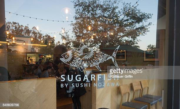 A view of Sugarfish by sushi Nozawa at The Commons in Calabasas frequented location by the Kardashians on July 07 2016 in Calabasas California