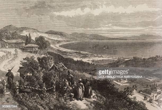View of Sukum Kaleh on the Black Sea illustration from the magazine The Illustrated London News volume XLIX September 15 1866