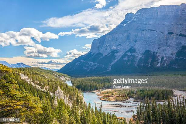 view of sulphur mountains,banff - sulphur mountain stock pictures, royalty-free photos & images