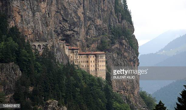 View of Sumela Monastery in Trabzon northeastern Turkey Patriarch Bartholomew I the spiritual leader of the world's Orthodox Christians conducts a...