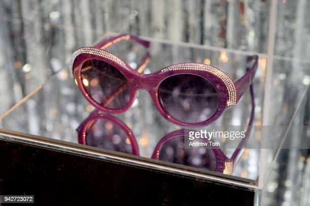 A view of sunglasses on display at the Alain Mikli x Alexandre Vauthier Launch Party on April 5 2018 in New York City