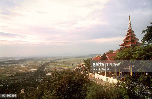 View of sunset from Mandalay Hill