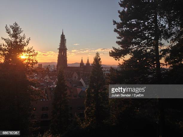 View Of Sunset Over Freiburg