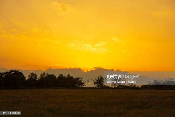 view of sunset over pitsford in daventry district, northamptonshire, england, uk - northamptonshire stock pictures, royalty-free photos & images