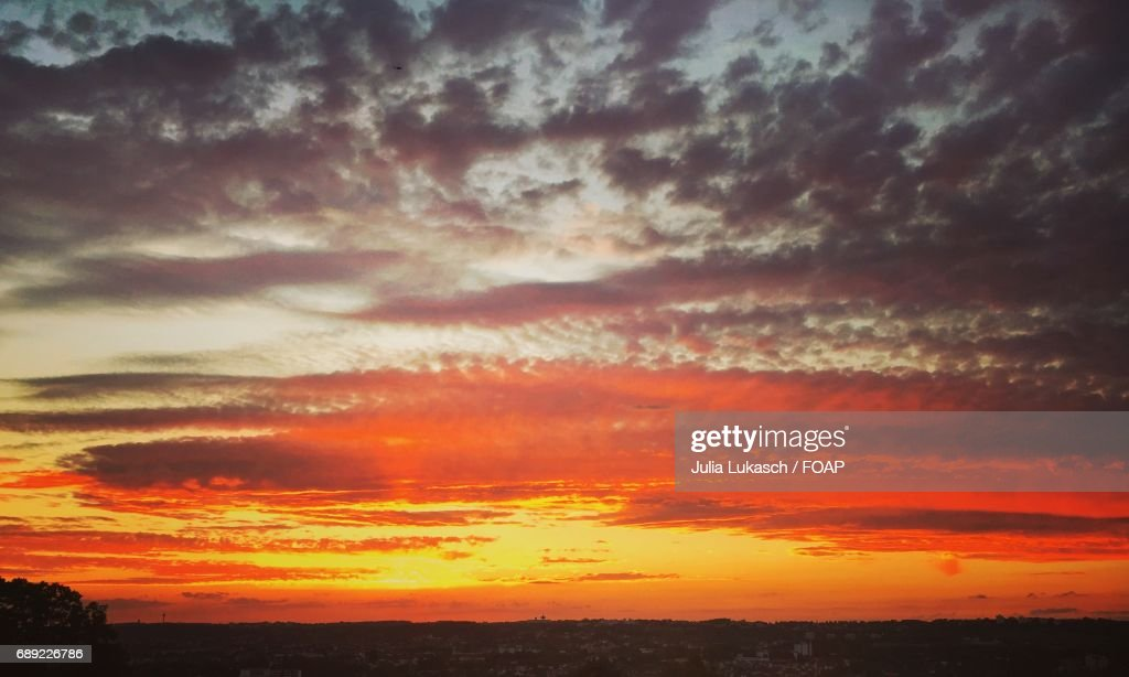 View of sunset : Stock Photo