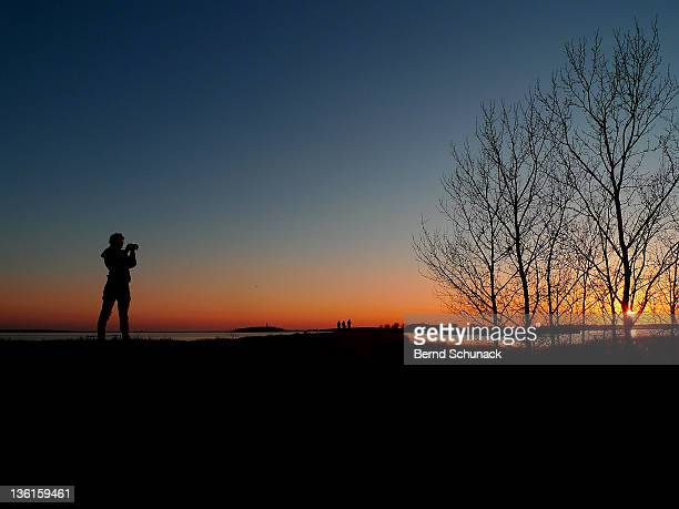 view of sunset shot - bernd schunack - fotografias e filmes do acervo