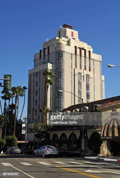 A view of Sunset Tower Hotel in West Hollywood on February 01 2014 in Los Angeles California