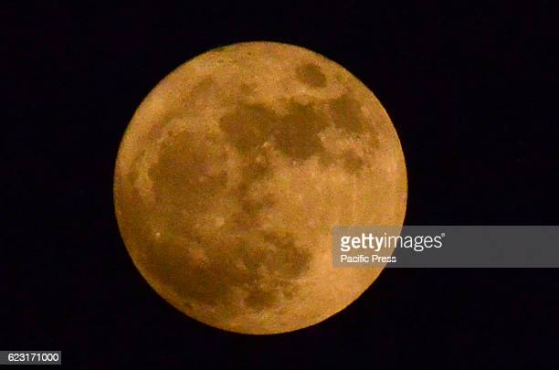 A view of super moon over the skies of the provincial Capital in Lahore This year the super moon will be at its closest distance on earth since 1948...