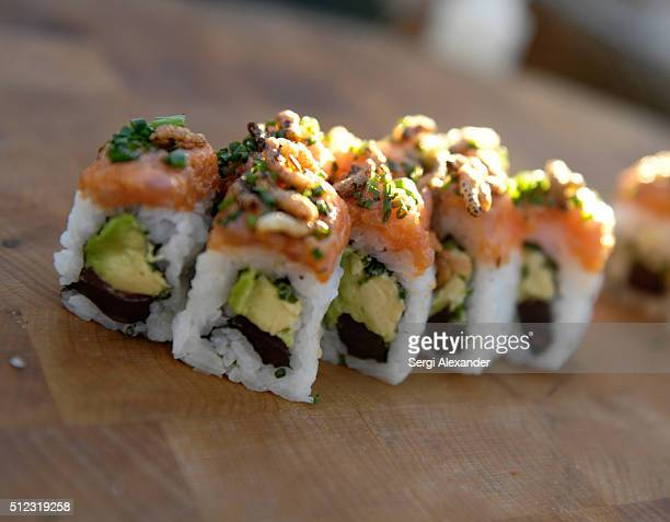 A view of sushi at Director's VIP Welcome Happy Hour during 2016 Food Network Cooking Channel South Beach Wine Food Festival Presented By FOOD WINE...