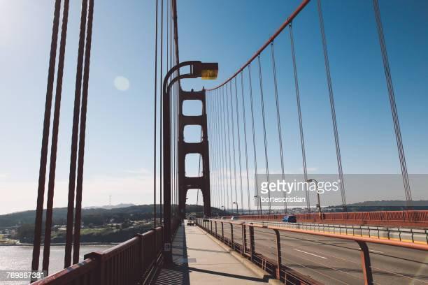 view of suspension bridge - bortes bildbanksfoton och bilder