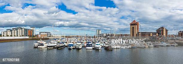 View of Swansea Marina (Maritime Quarter)