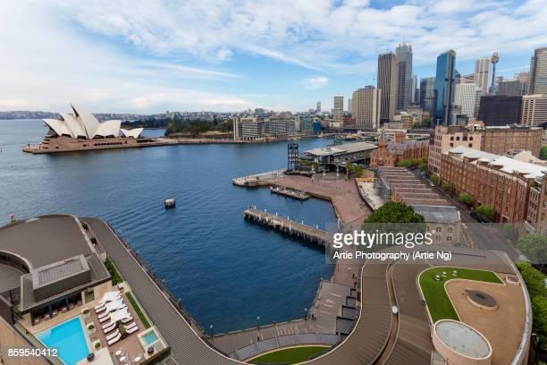 View of Sydney Opera House, Circular Quay, CBD and the Rocks, Sydney, New South Wales, Australia