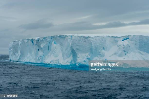 View of tabular iceberg in the Antarctic Sound near Hope Bay on the tip of the Antarctic Peninsula.