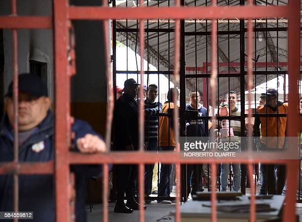 View of Tacumbu prison where Brazilian drug trafficker Jarvis Chimenes Pavao was paying his sentence in Asuncion on July 28 2016 Three rooms a plasma...