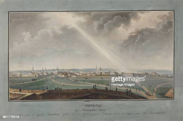 View of Taganrog on the day of the death of Emperor Alexander I on November 19 circirca 18301840 Found in the Collection of State Museum of the...